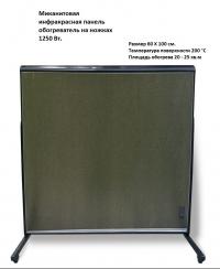 Миканитовая инфракрасная панель обогреватель на ножках Infraterm 1300 Вт.