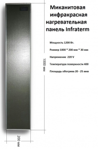 Миканитовая панель Infraterm 1200 Вт.