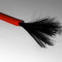 Нагревательные карбоновые кабели в силиконовой изоляции 0,5м.