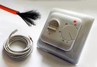 Комплект для теплого пола из нагревательного карбонового кабеля на 12 кв.м