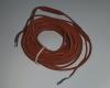 Карбоновый нагревательный кабель в силиконовой высокотемпературной изоляции с медными холодными проводниками для подключения.
